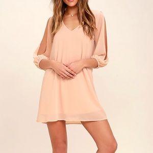 Lulu's Blush Pink Shift Dress
